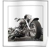 """Harley-Davidson Customized Shovelhead"" Poster"