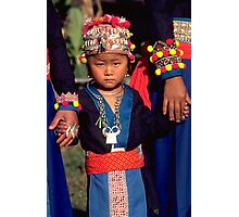 White Hmong girl in her finery Photographic Print
