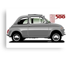 Classic Fiat 500F grey Canvas Print