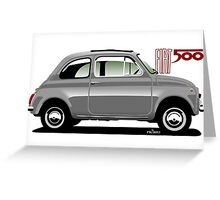 Classic Fiat 500F grey Greeting Card