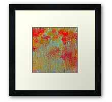 Flowers in Red and Gold Framed Print