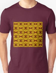 Red and Gold Christmas Abstract Unisex T-Shirt