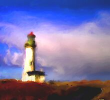 Yaquina Lighthouse by Christine Pierce