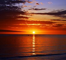 Sunset On Brighton Beach - SA Australia by JustAnEffigy