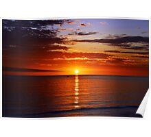 Sunset On Brighton Beach - SA Australia Poster