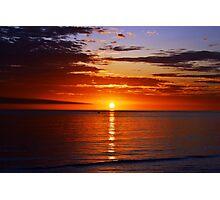 Sunset On Brighton Beach - SA Australia Photographic Print