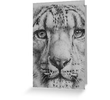 Up Close Snow Leopard Greeting Card