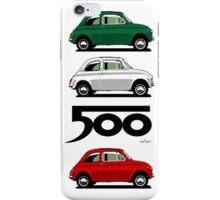 Classic Fiat 500F blue iPhone Case/Skin