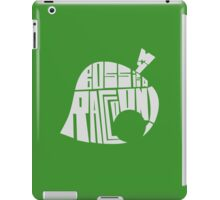 t-shirt animal crossing leaf Tom Nook My boss is a raccoon ! iPad Case/Skin