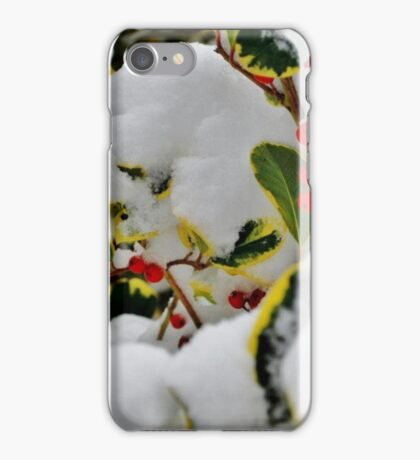 Snowy Holly iPhone Case/Skin