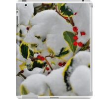Snowy Holly iPad Case/Skin