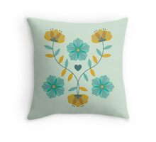 flowers everywhere/2 Throw Pillow