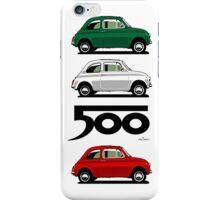 Classic Fiat 500F light blue iPhone Case/Skin