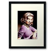 Lauren Bacall, Colour Framed Print