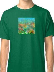 Garden in Red, Yellow, and Green Classic T-Shirt