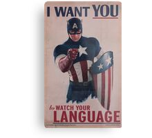 Age Of Ultron - Watch Your Language! Metal Print