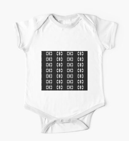 Barbed Wire Black and White Pattern One Piece - Short Sleeve