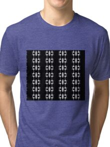Barbed Wire Black and White Pattern Tri-blend T-Shirt