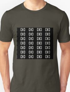 Barbed Wire Black and White Pattern Unisex T-Shirt