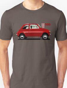 Classic Fiat 500F red T-Shirt