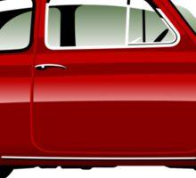 Classic Fiat 500F red Sticker
