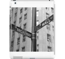Wall Street and Broadway iPad Case/Skin
