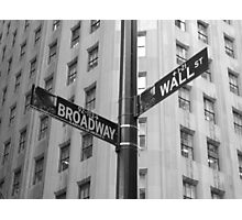 Wall Street and Broadway Photographic Print