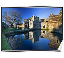 The entrance to Beaumaris castle Poster