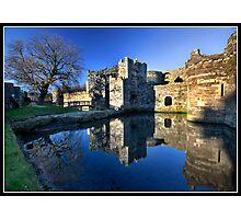 The entrance to Beaumaris castle Photographic Print
