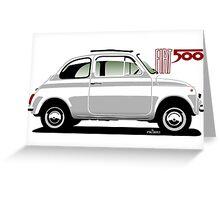Classic Fiat 500F white Greeting Card