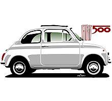 Classic Fiat 500F white Photographic Print