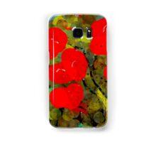 Bright Red Flowers Samsung Galaxy Case/Skin
