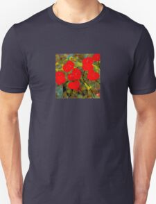 Bright Red Flowers T-Shirt