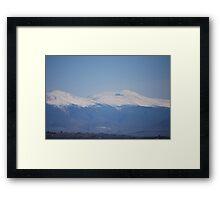 Presidential Mountain Range, NH Framed Print