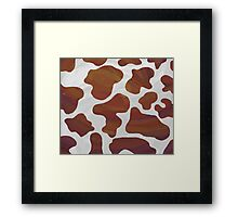 Cow Brown and White Print Framed Print