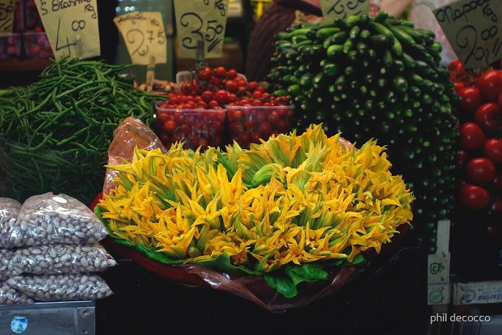 Zucchini Squash Blossoms by phil decocco