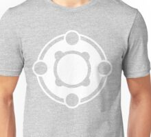 Powerfour Crop Circle white Unisex T-Shirt