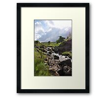 Out and About in Swaledale. Framed Print