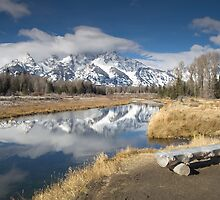 Teton's Bench by Christopher  Boswell