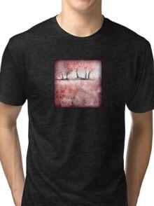 Soft-Red Landscape Tri-blend T-Shirt