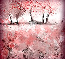 Soft-Red Landscape by Jessielee72