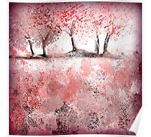 Soft-Red Landscape Poster