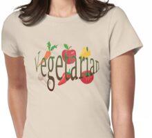 Vegetarian Womens Fitted T-Shirt