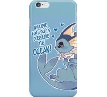Vaporeon Love iPhone Case/Skin