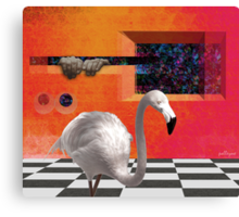 THE RED PORTAL with ALBINO BIRD Canvas Print
