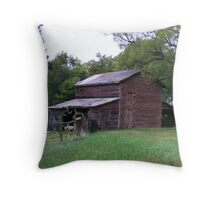 Goat Barn Throw Pillow