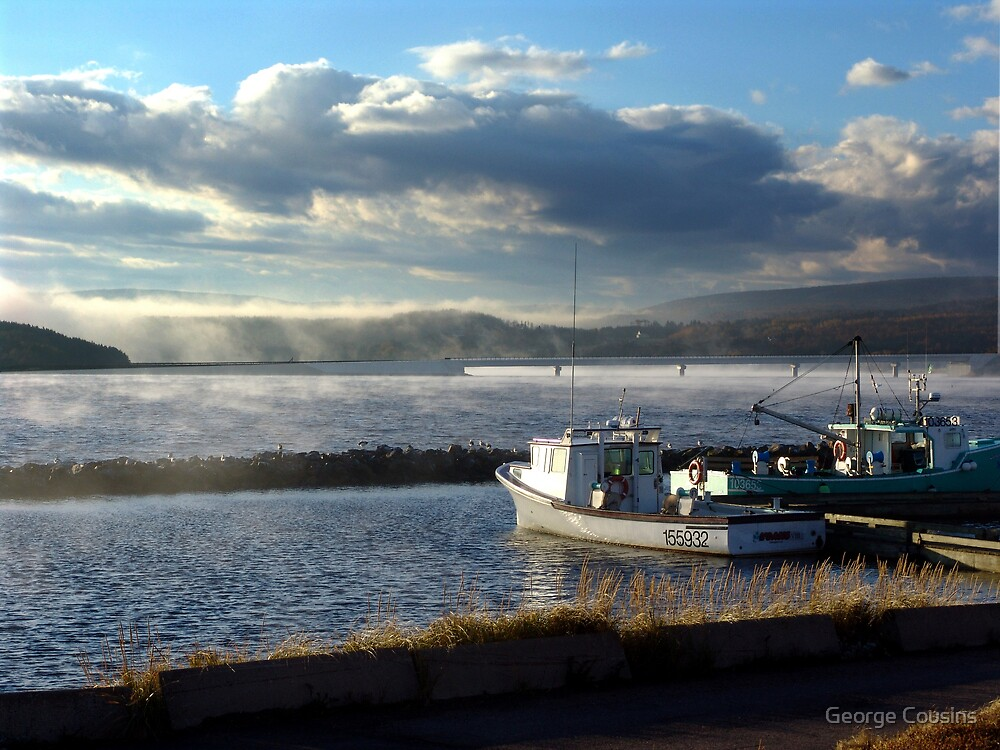 Morning at Margaree Harbour. by George Cousins