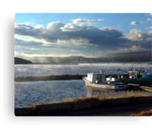 Morning at Margaree Harbour. Canvas Print