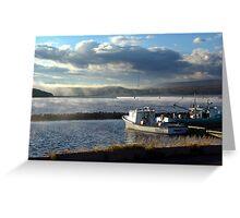 Morning at Margaree Harbour. Greeting Card