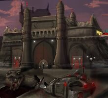 AnariaONLINE architecture Game Art ( Dark Palace) by Aestheticz .